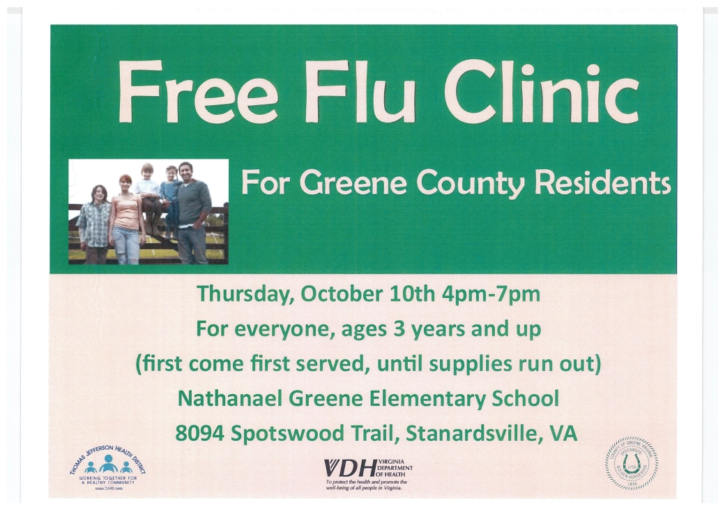 Free Flu Clinic Oct.2019