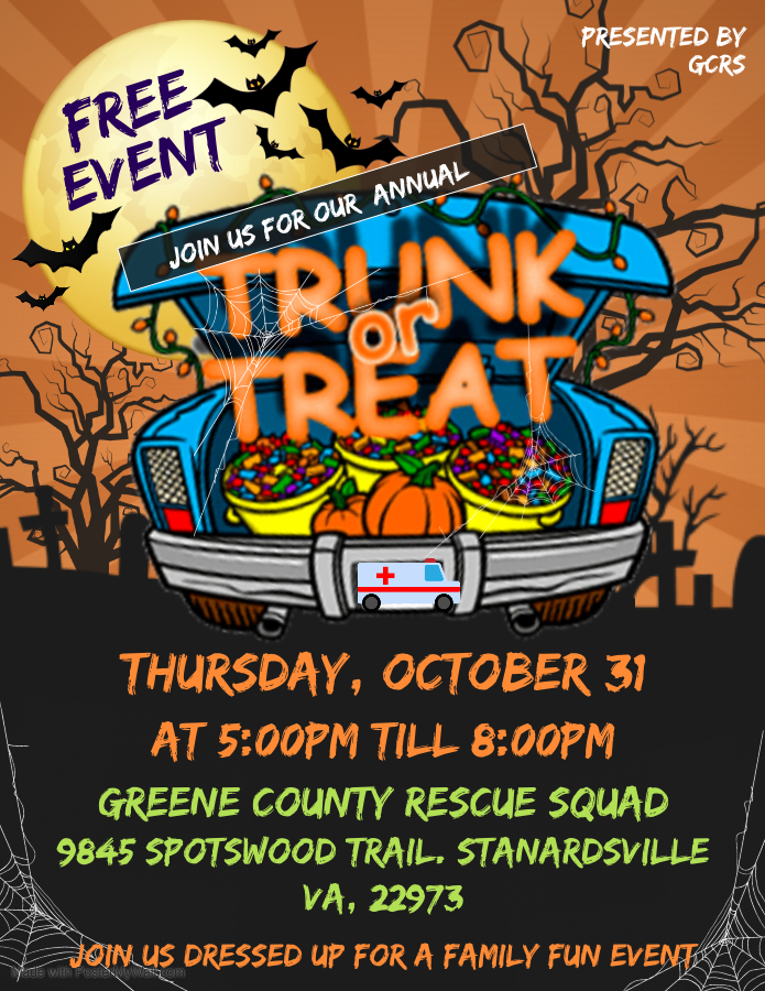 Copy of Halloween Trunk or Treat - Made with PosterMyWall